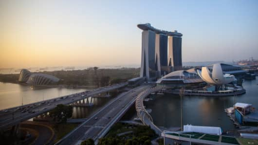 Marina Bay Sands Singapore.